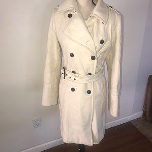 Express Cream Trench Coat